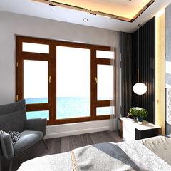 卧室-望美98系列铝包木窗